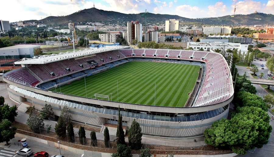 B - digital - (25.09.2008) Vista del Mini Estadi y Camp Nou. © Tejederas