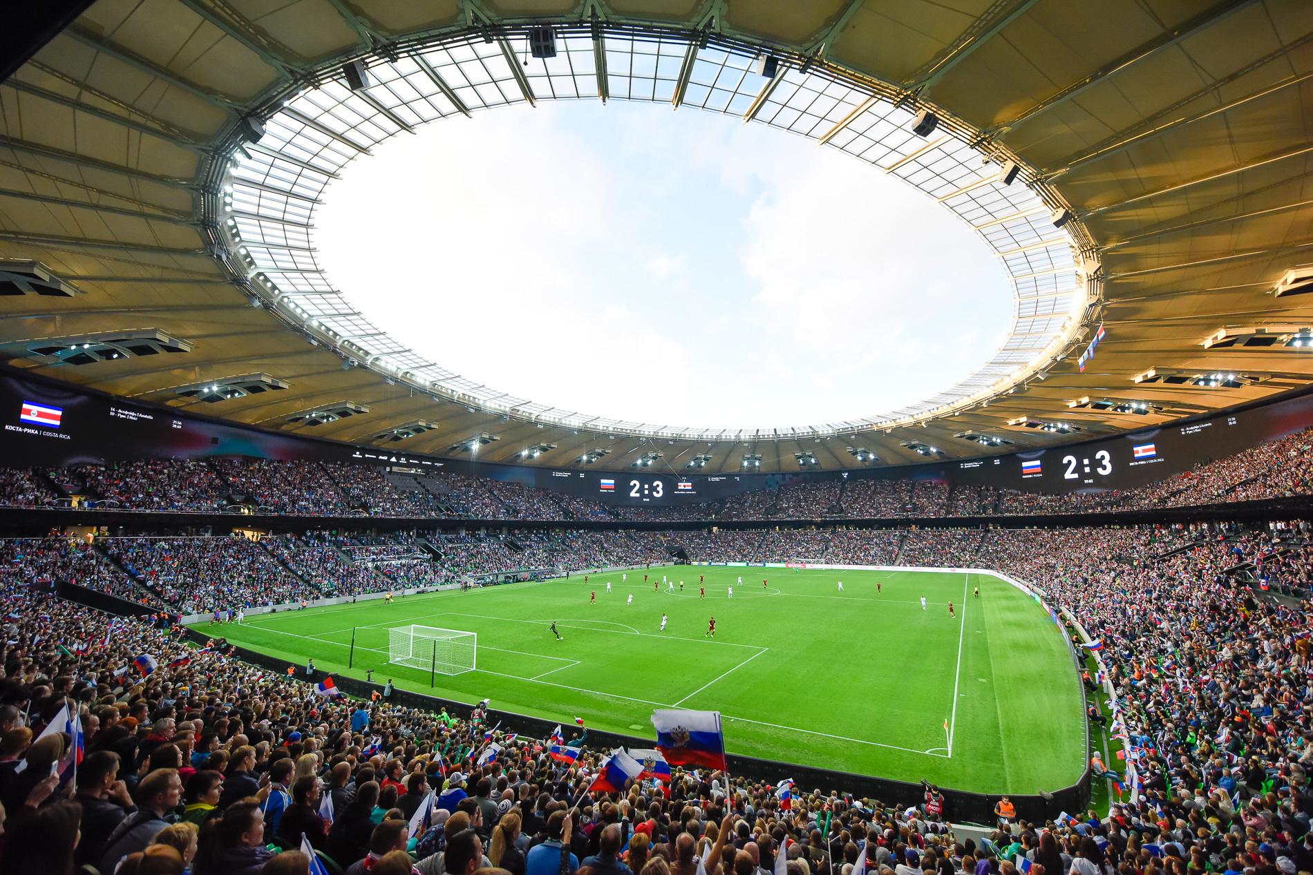 Матч на стадионе Краснодар
