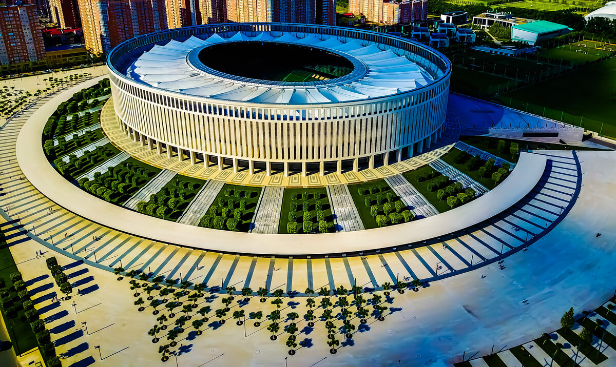 Внешний вид стадиона Краснодар