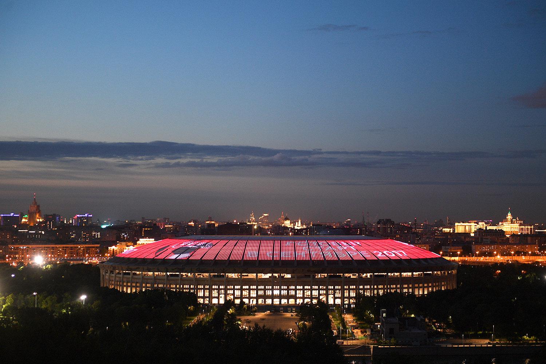 Крыша стадиона Лужники