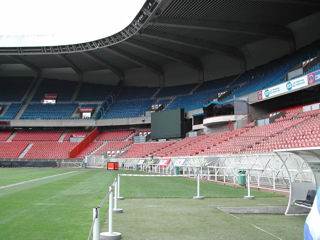 Трибуны стадиона Парк де Пренс