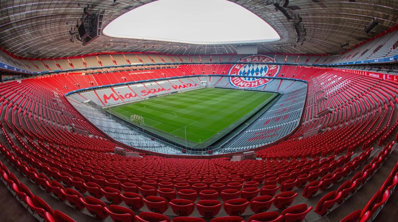 Обои альянц арена, мюнхен, подсветка, германия, стадион. Города foto 2