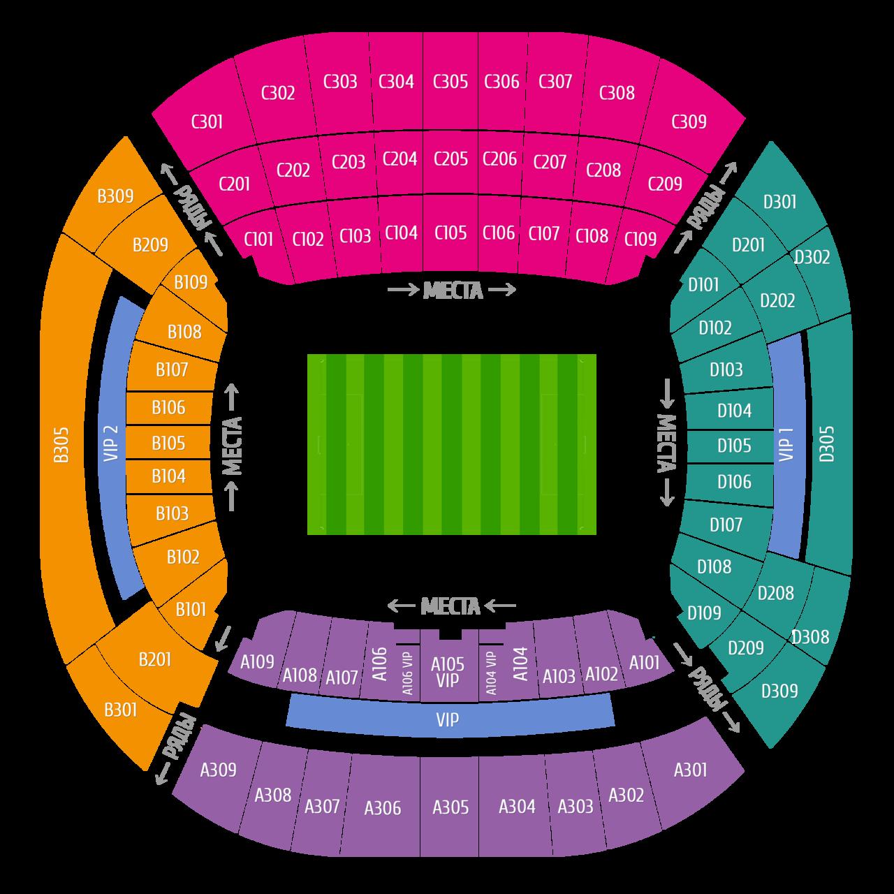 Схема стадиона Фишт